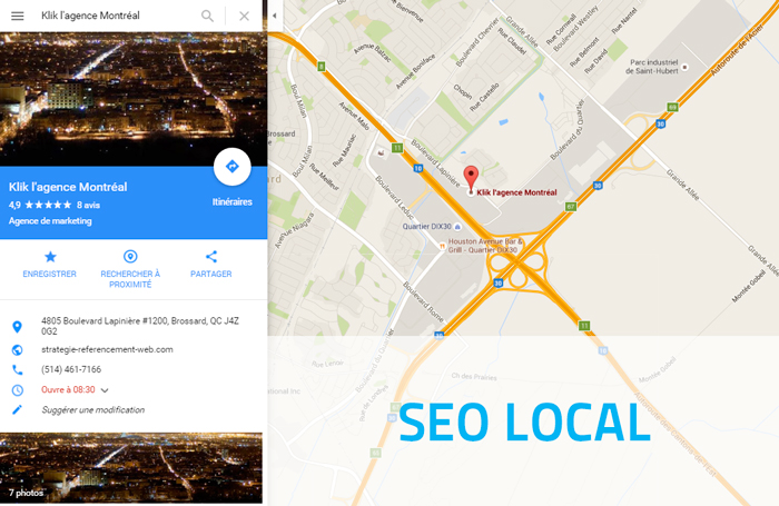 Outil gratuit opur tester le seo local ou le referencement local
